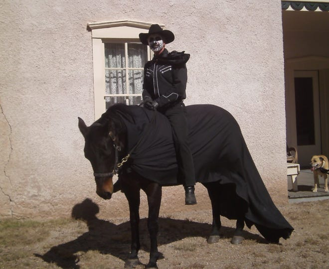 What would Día in Lincoln be without a visit from the spirit of Billy the Kid riding his lively spirit horse Belle?