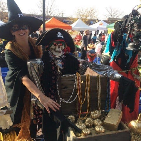 Mary Martin, executive director of the Greater Farmington Area Chamber of Commerce, turned pumpkins into gold at the the Haunted Market last year.