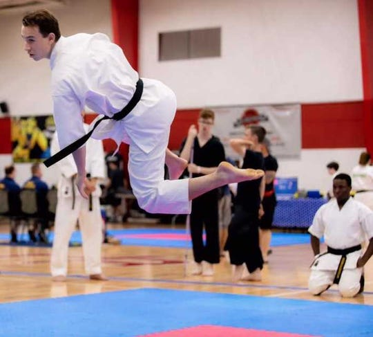 Canton's Logan Stacey has earned an invitation to the karate world championships in Dublin, Ireland.