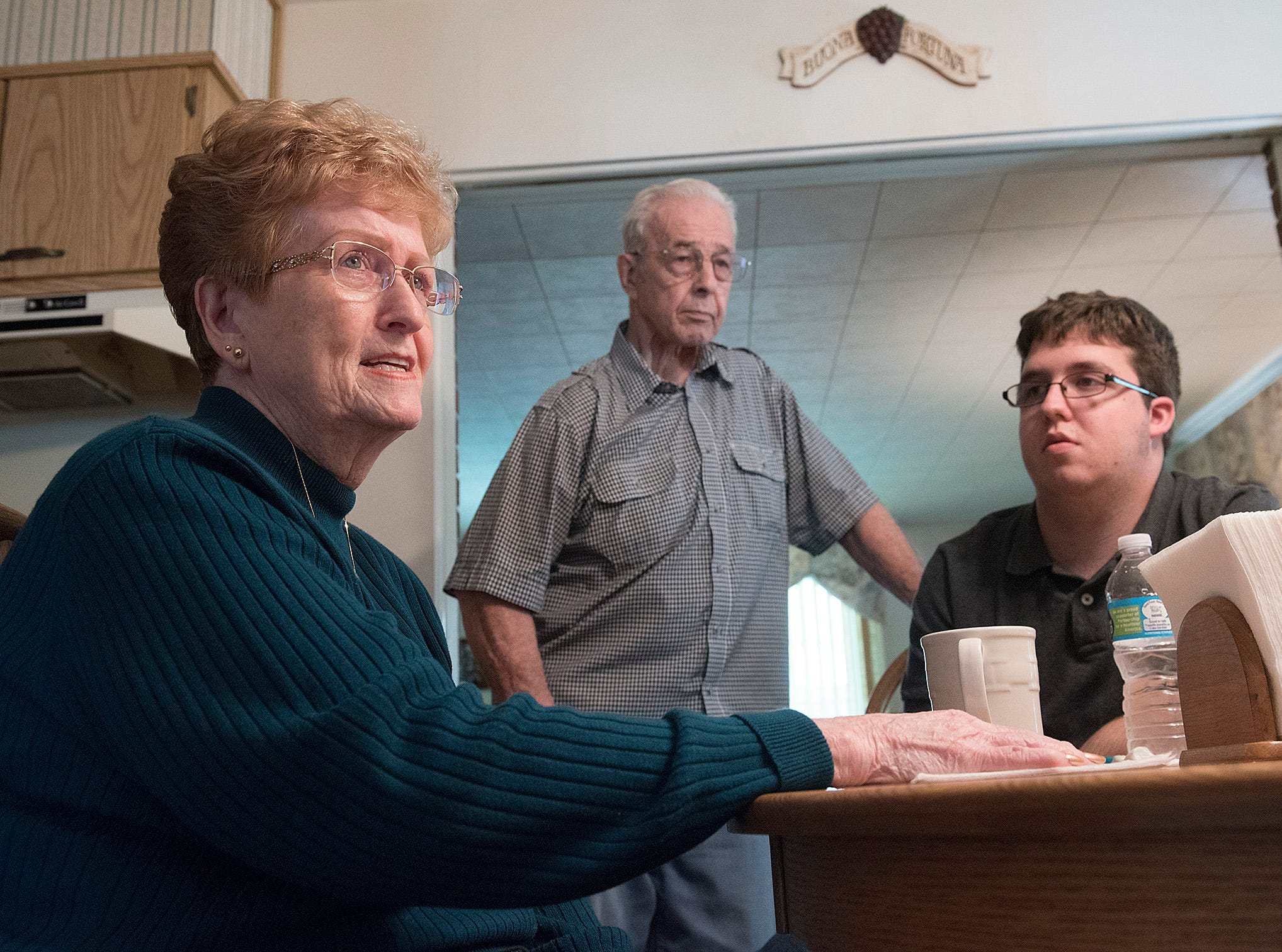 All in the family: Westland woman, grandson ready for midterm duty
