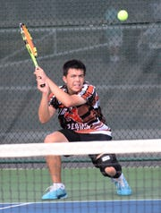Northville sophomore Matthew Freeman finished 25-1 overall capped by a No. 4 singles title at the MHSAA Division 1 finals held in Midland.