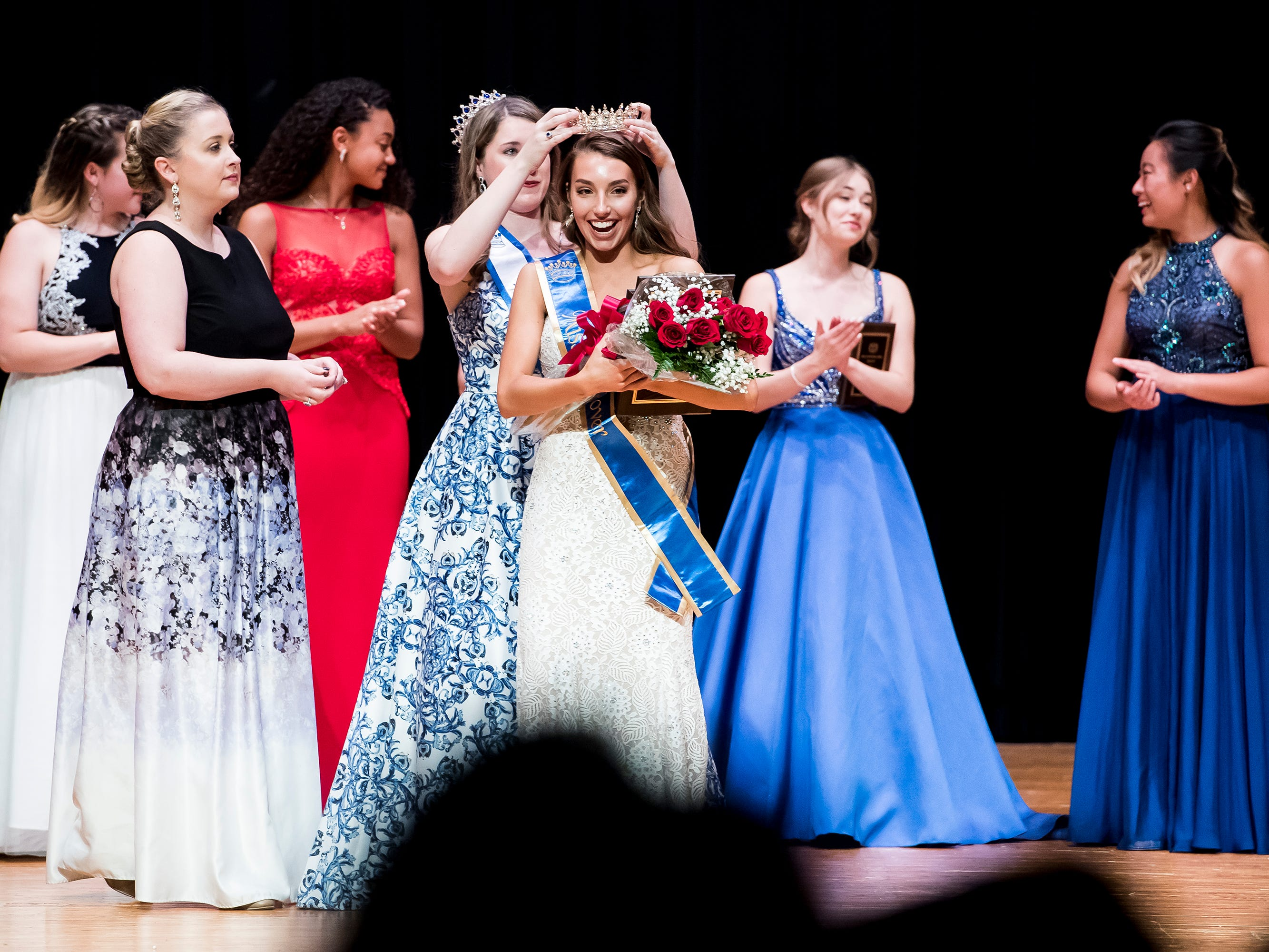 South Western's Madlyn Farley is crowned the 50th Miss Hanover Area at New Oxford High School on Monday, October 22, 2018.