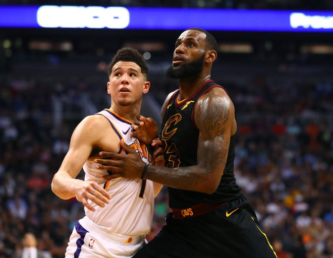 Devin Booker is clearly on his way up. Can he knock LeBron James down on his way out?