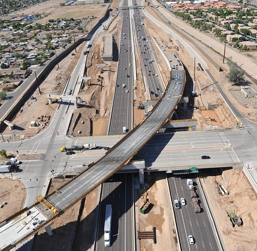 I-10 closure this weekend: How long till Arizona's 5 biggest road projects are done?