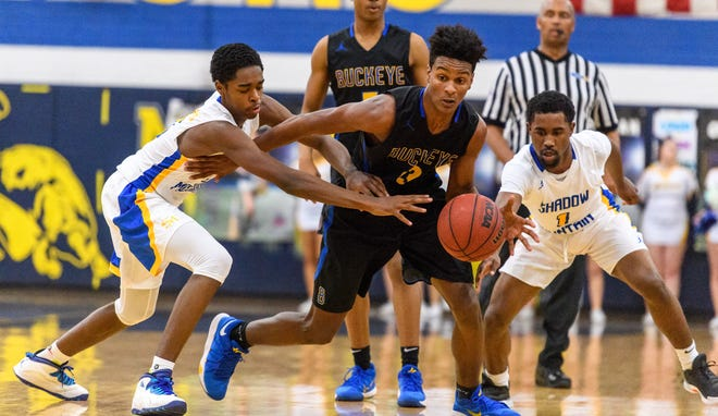 Otis Frazier of Buckeye (13) and Jovan Blacksher of Shadow Mountain are two of Richard Obert's must-see high school basketball players this season.