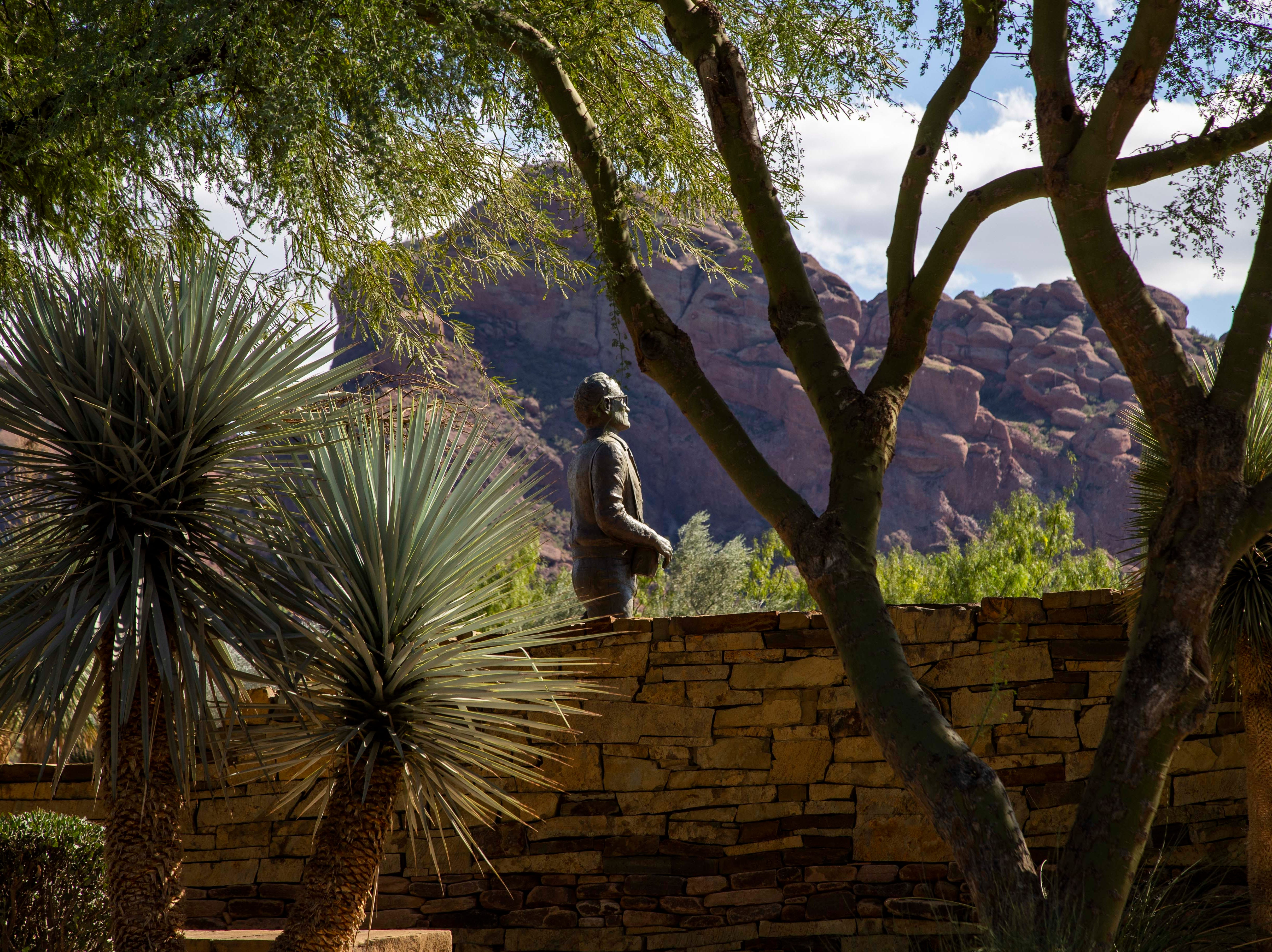Barry Goldwater bronze statue in Paradise Valley, Az.