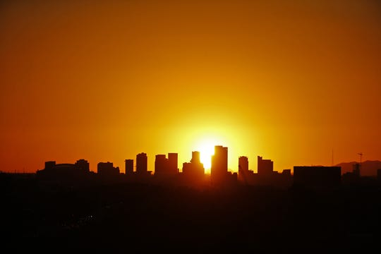 The Downtown Phoenix skyline as seen on Sept. 24, 2018. Downtown Phoenix has evolved from nearly a ghost town in the 1990's to the vibrant downtown today.