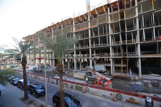 RED Development's Block 23 project is under construction in downtown Phoenix on Oct. 22, 2018. The retail center will include a Fry's grocery store.