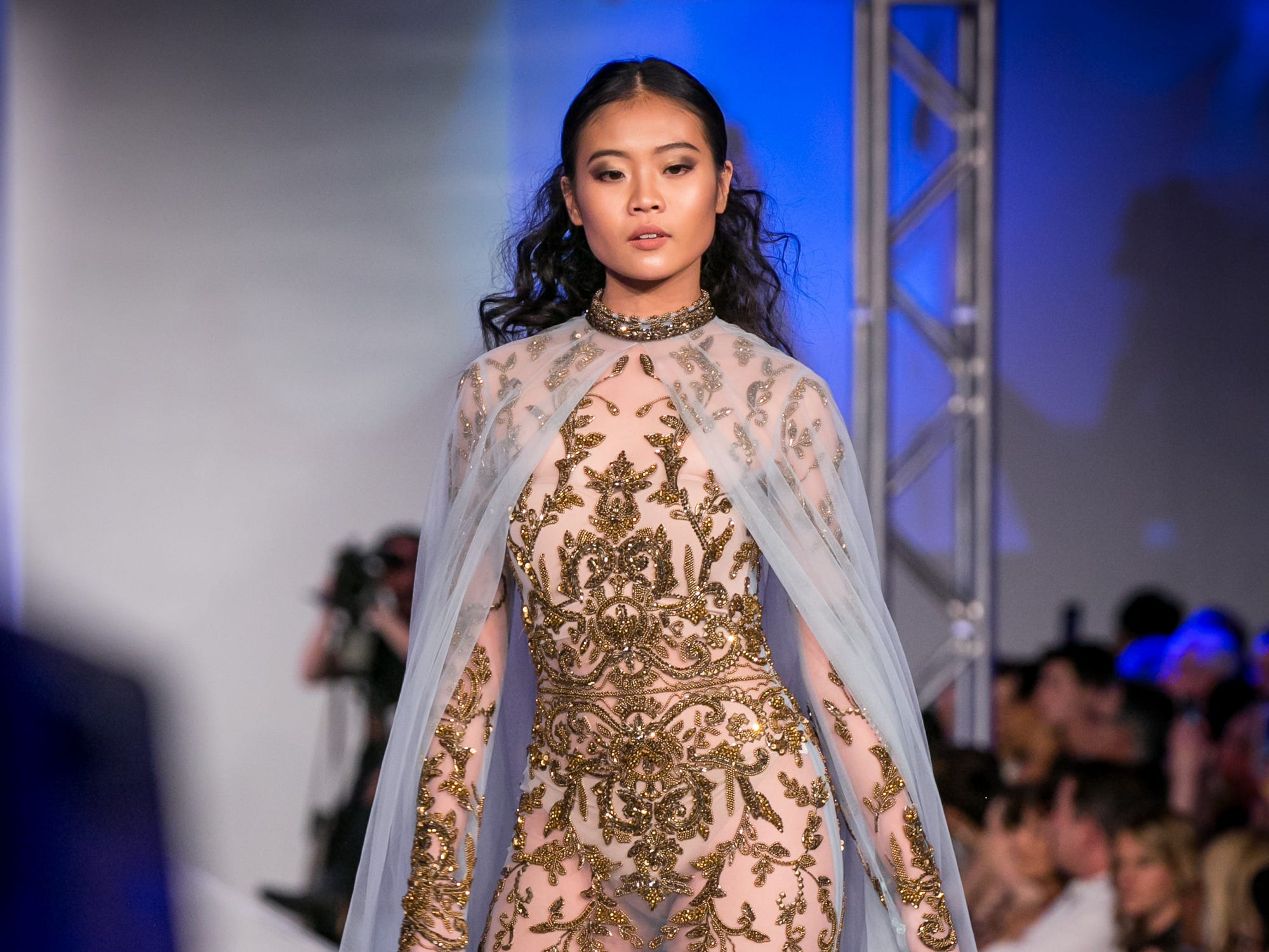 Yas Couture's runway during Phoenix Fashion Week at Talking Stick Resort in Scottsdale on Saturday, October 20, 2018.