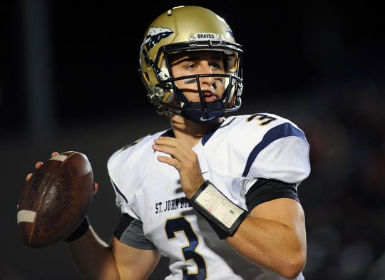 Josh Rosen looks to pass during a game against the Bishop Gorman while in high school at St. John Bosco.