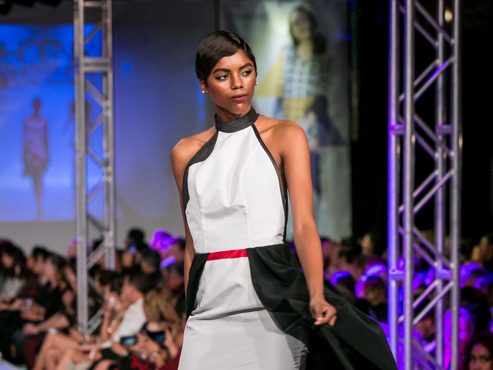 ACONAV's runway during Phoenix Fashion Week at Talking Stick Resort in Scottsdale on Saturday, October 20, 2018.