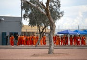 Inmates in the Eagle Point Unit of the Arizona State Prison Complex-Lewis in Buckeye on October 23, 2018.