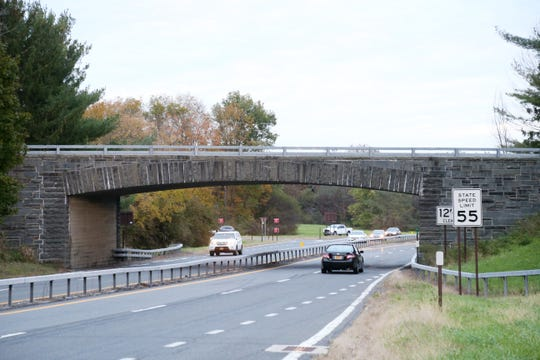 The bridge where Salt Point Turnpike crosses the Taconic Parkway on October 22, 2018.