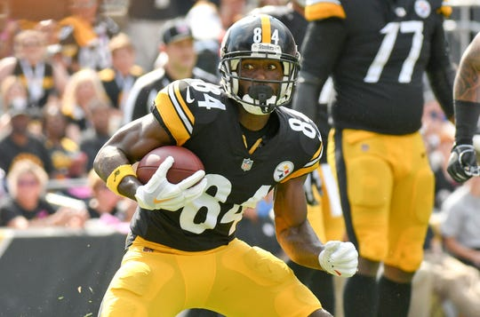 Wideout Antonio Brown has never won a championship during his stint with the Pittsburgh Steelers. AP FILE PHOTO