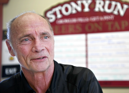 Owner Bob Elmiger, of Stony Run Brew House, talks about hosting an upcoming fundraiser during and interview at the pub in Springettsbury Township, Tuesday, Oct. 23, 2018. The fundraiser which will benefit the 4AydenStrong Foundation will be held in conjunction with a ribbon-cutting ceremony on Thursday, Nov. 8. The organization was created in honor of  Ayden Zeigler-Kohler, 10, who died in 2017 following a seven-month battle with DIPG, an incurable brain cancer. Dawn J. Sagert photo