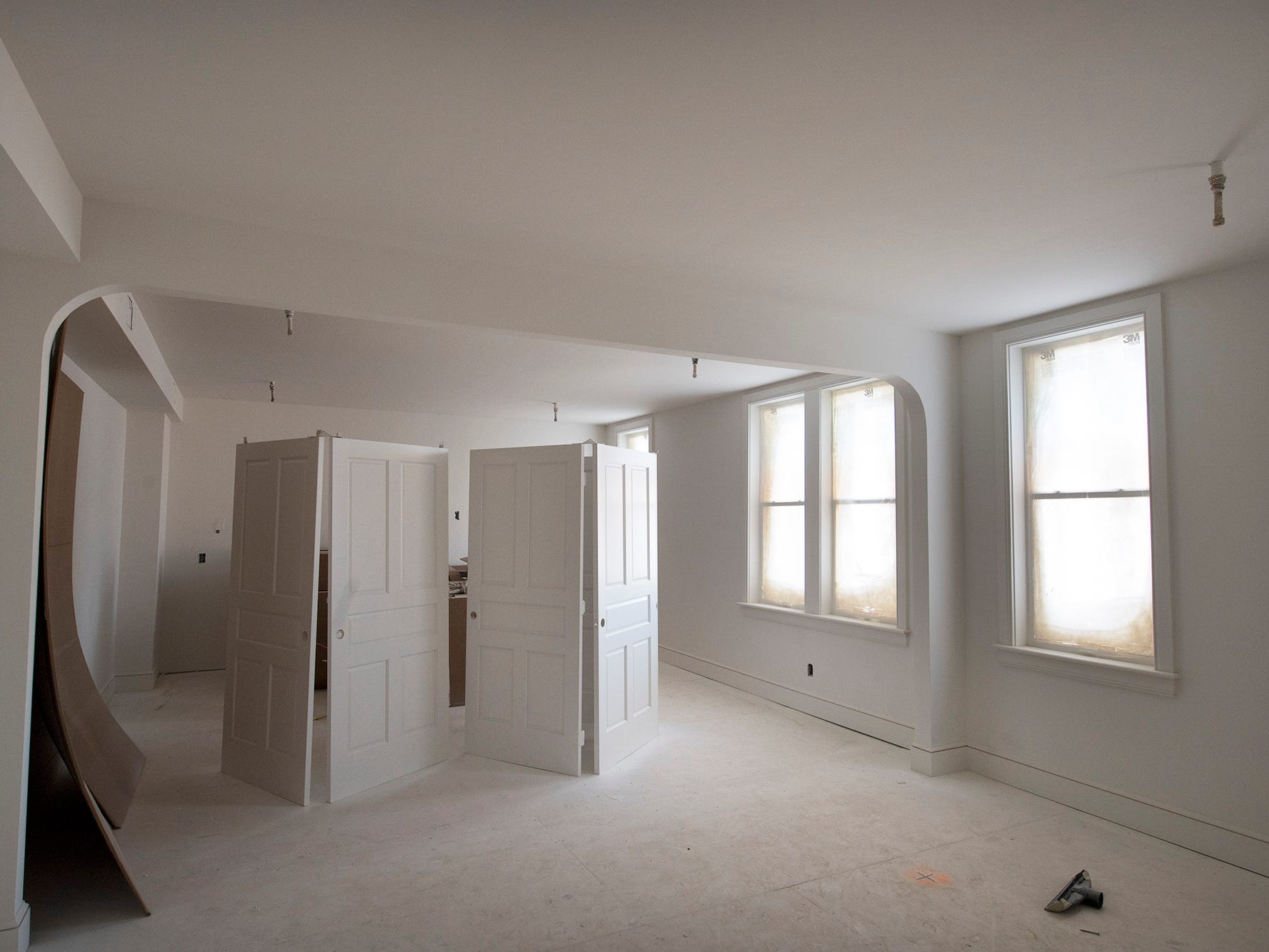 An apartment nears completion at the Doll Building at 337 W. Market Street in York.