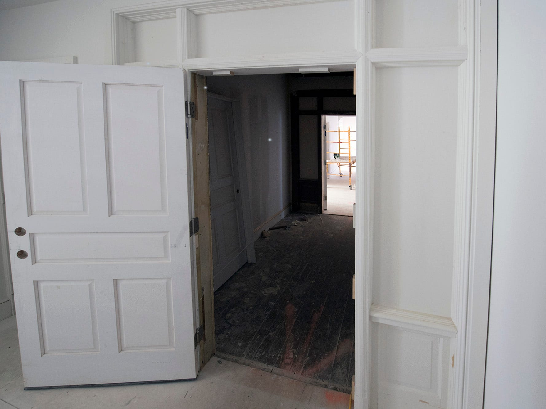 A complete original doorway and framing were removed to make the space of an apartment more efficient at the Doll Building at 337 W. Market Street in York.