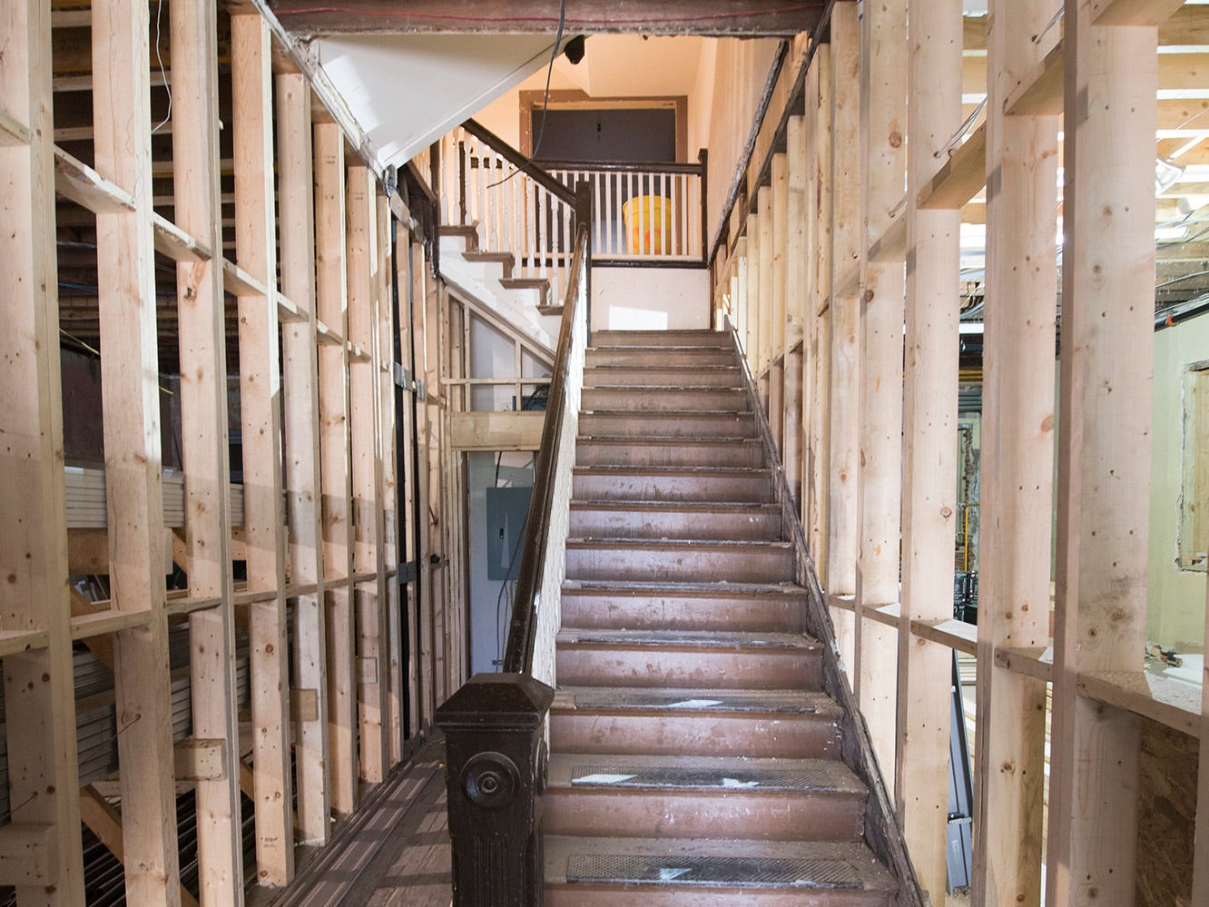 The first floor staircase to the second floor at the Doll Building at 337 W. Market Street in York.