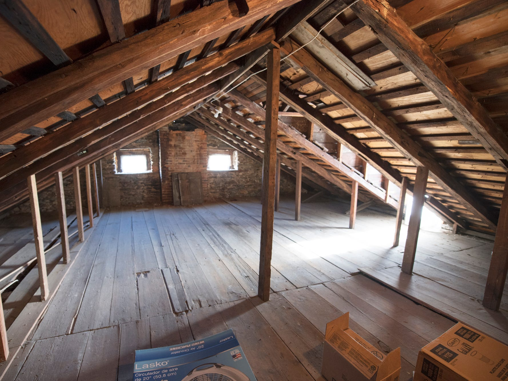 The attic remains timeless at Gray Goose Manor, built in 1798 in Springfield Township.