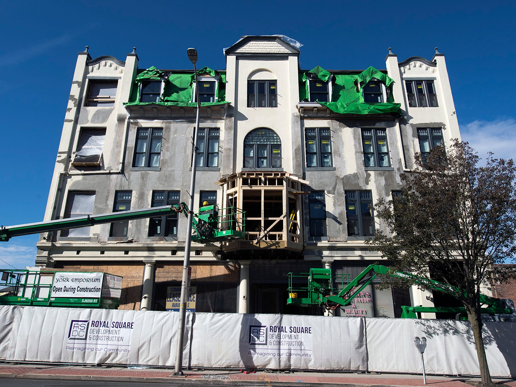 The Doll Building at 337 W. Market Street in York is nearing completion. Built in the 1880s, the structure was once home to The City Hotel and later Doll Pontiac.