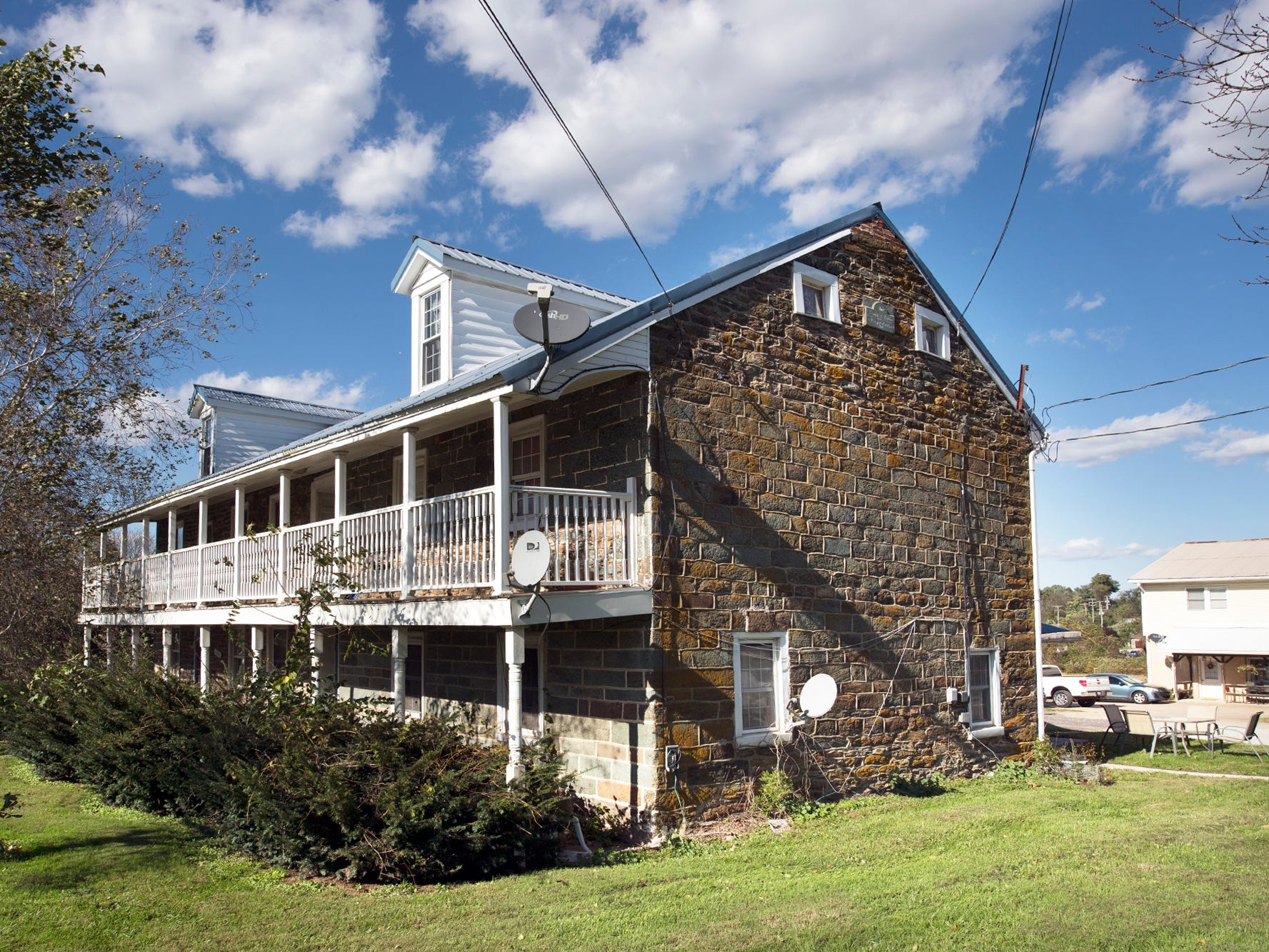 Gray Goose Manor is a complex of buildings in Springfield Township along the Susquehanna Trail in southern York County. It is comprised of a main stone house, built in 1798, and a barn that make up seven apartments. The complex on 2.3 is for sale for $425,000.