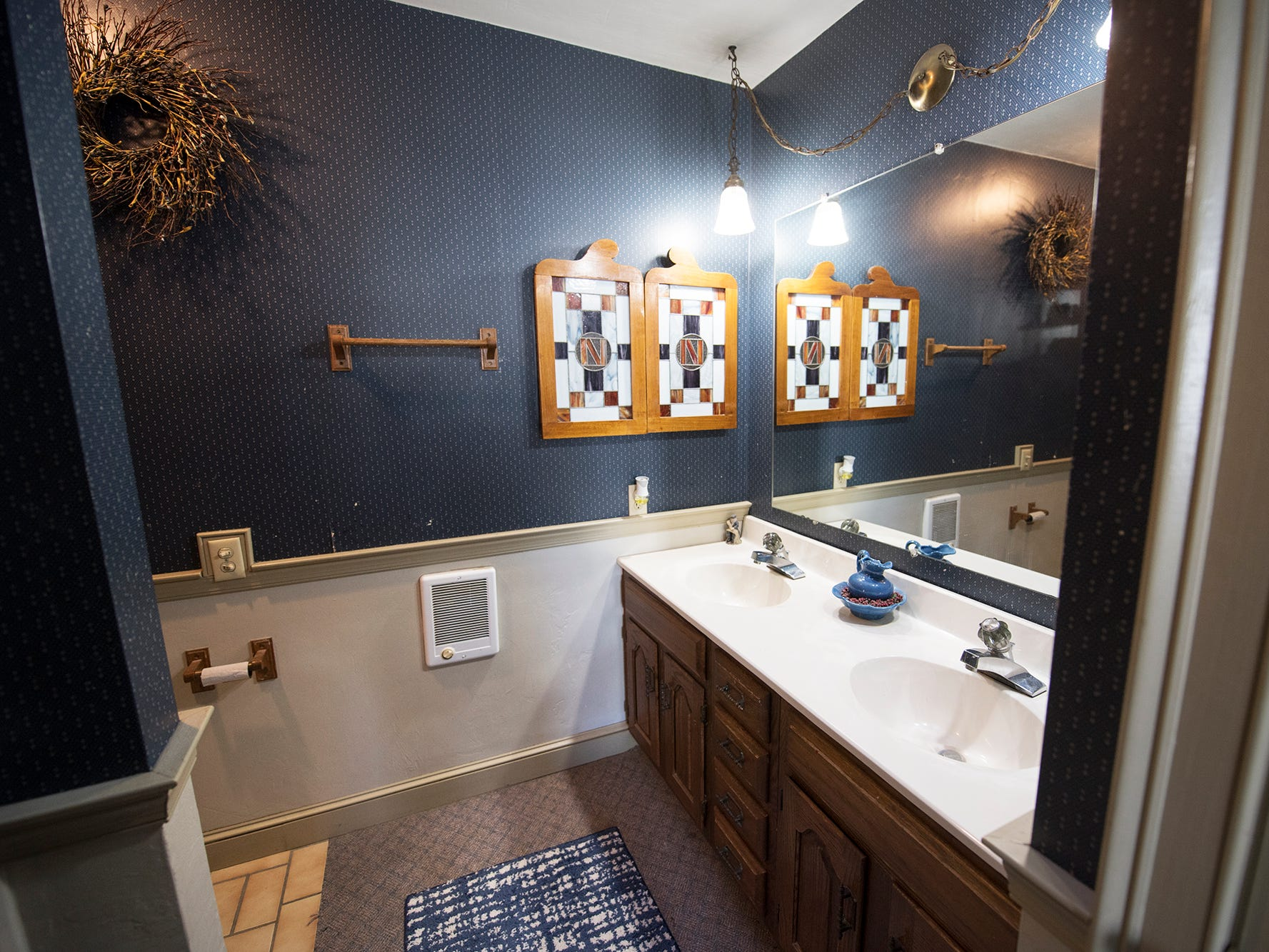 A bathroom in the main house at Gray Goose Manor in Springfield Township. The main house has two bathrooms.