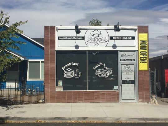 Maggie's Breakfast & Lunch inhabits the short-lived former Baja Bakery & Deli on Wonder Street.