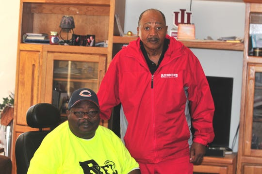 Tommy Williams, left, and Robert Hooks, have led the Richmond Youth Football League despite both overcoming several health issues.