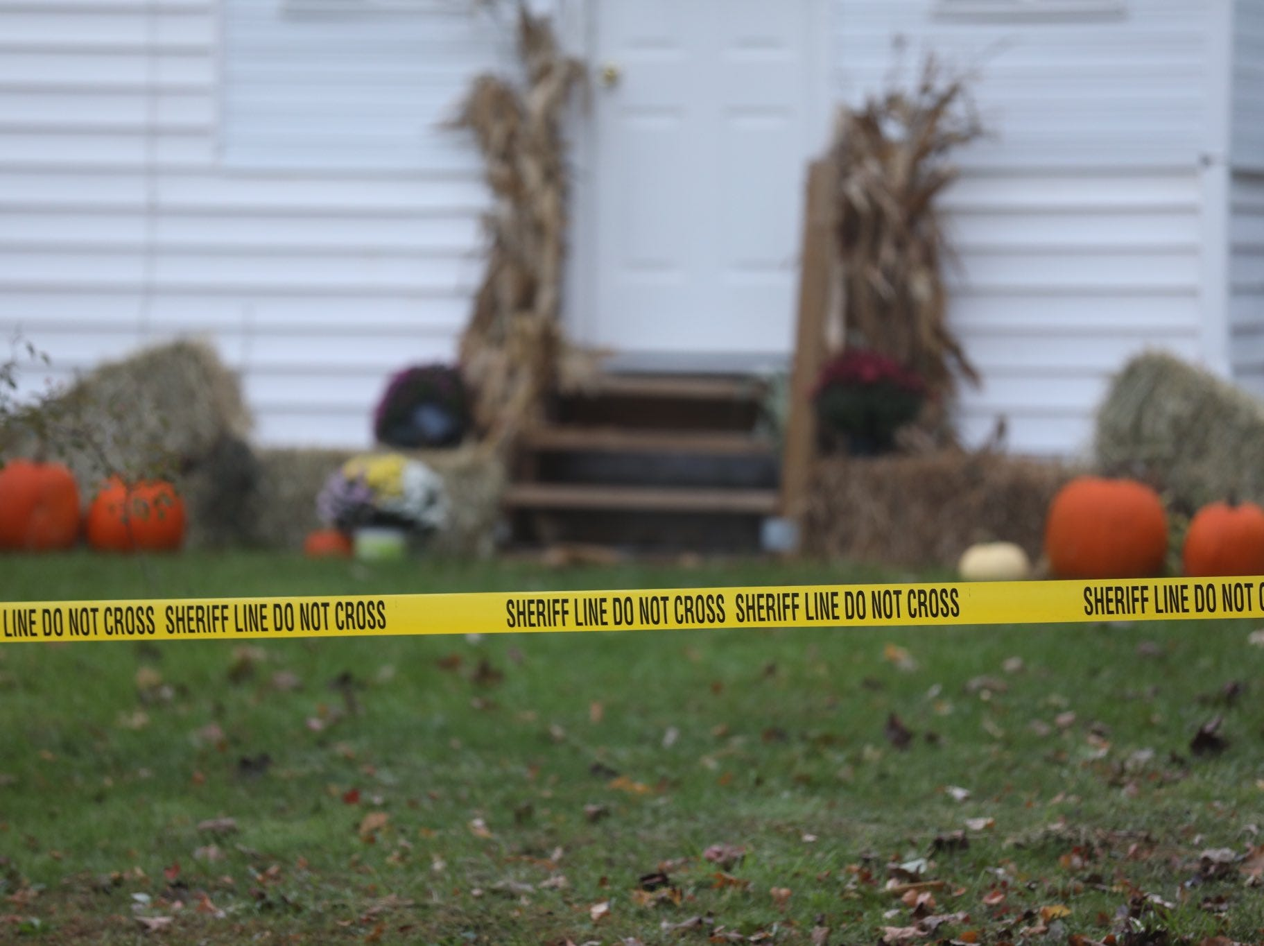 Police tape surrounds 29 Carlton St. in Sodus.