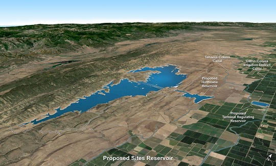 Sites Reservoir, if it is built would be located west of the Sacramento River in Colusa County.
