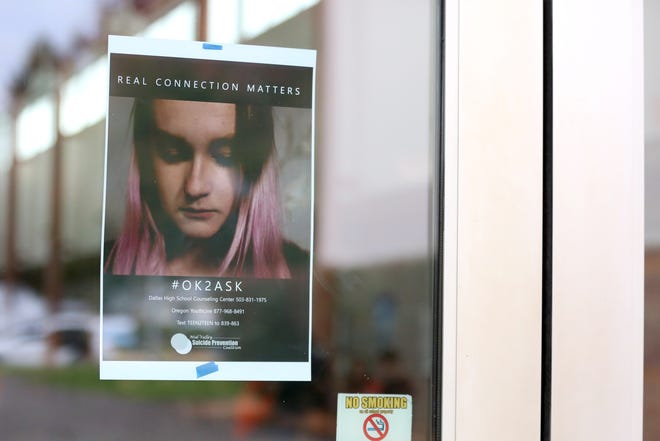 """The film #newpost, which features Dallas High School students, was shown to all seniors on Tuesday, Oct. 23 in Dallas. The short film promotes suicide prevention focusing on the message, """"real connection matters."""""""