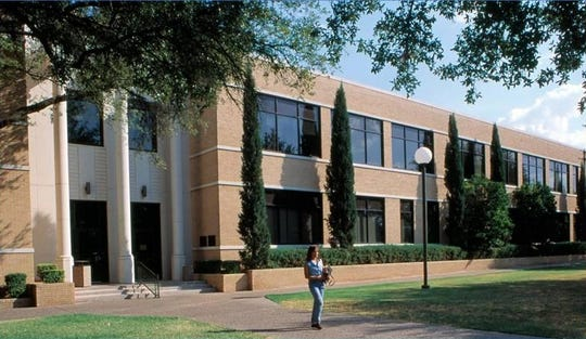 The Hardeman Building at Angelo State University in San Angelo, Texas, is shown in April 2012.