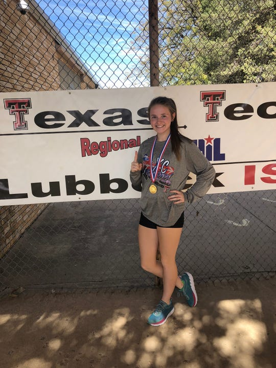 Brady High School''s Taylor Limbaugh won the Region I-3A girls cross country individual title Monday, Oct. 22, 2018, in Lubbock.