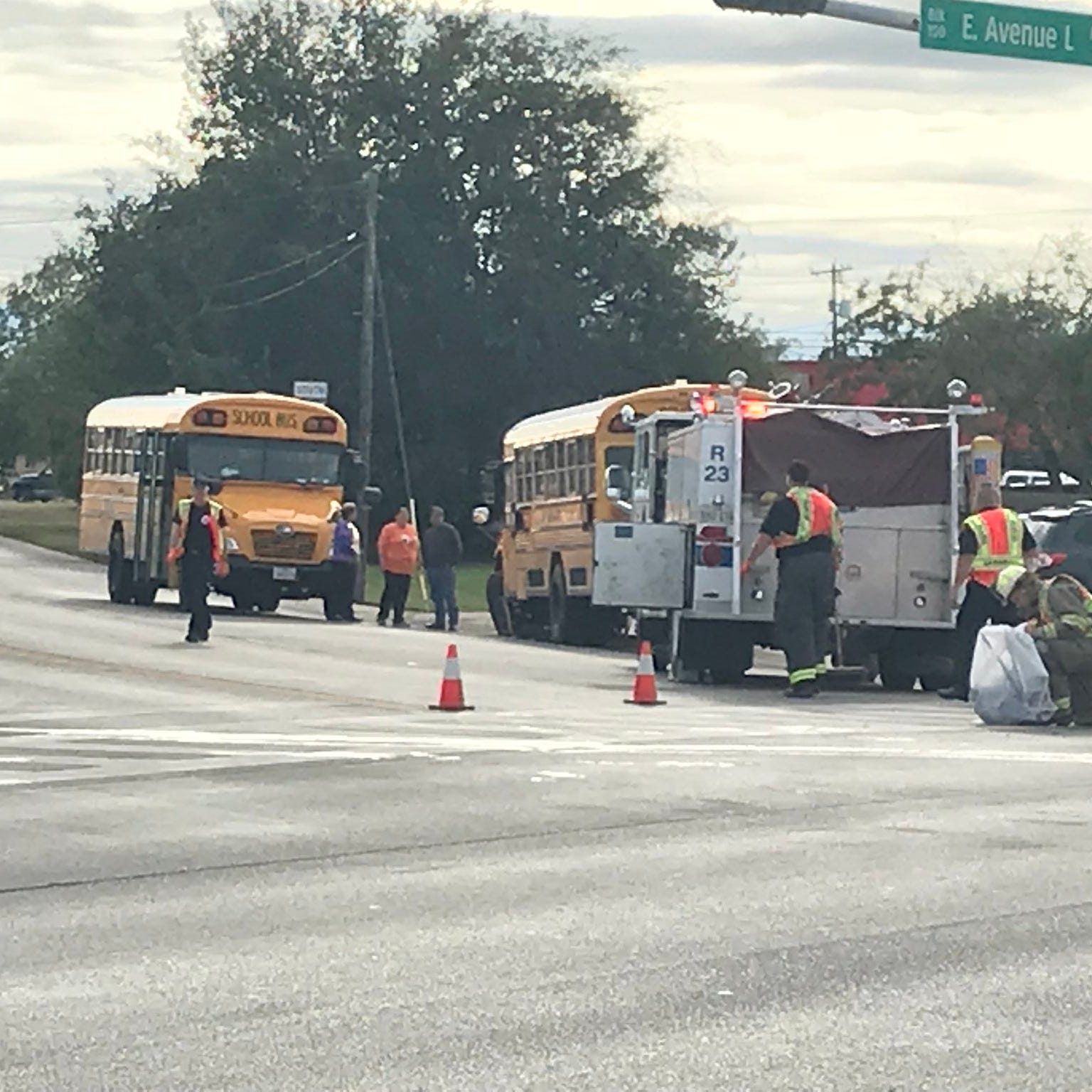 San Angelo school bus involved in crash; students OK