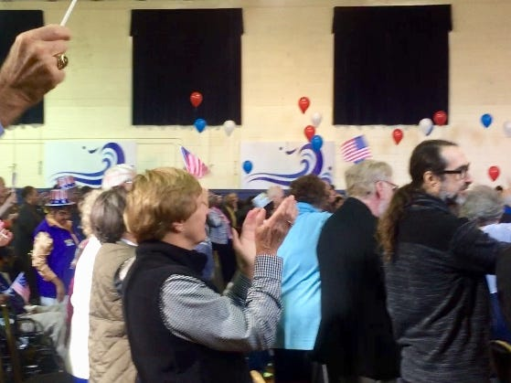 Eastern Shore residents attend a Get Out the Vote rally in Accomac on Oct. 21 for Democratic candidates in the No. 6 election.