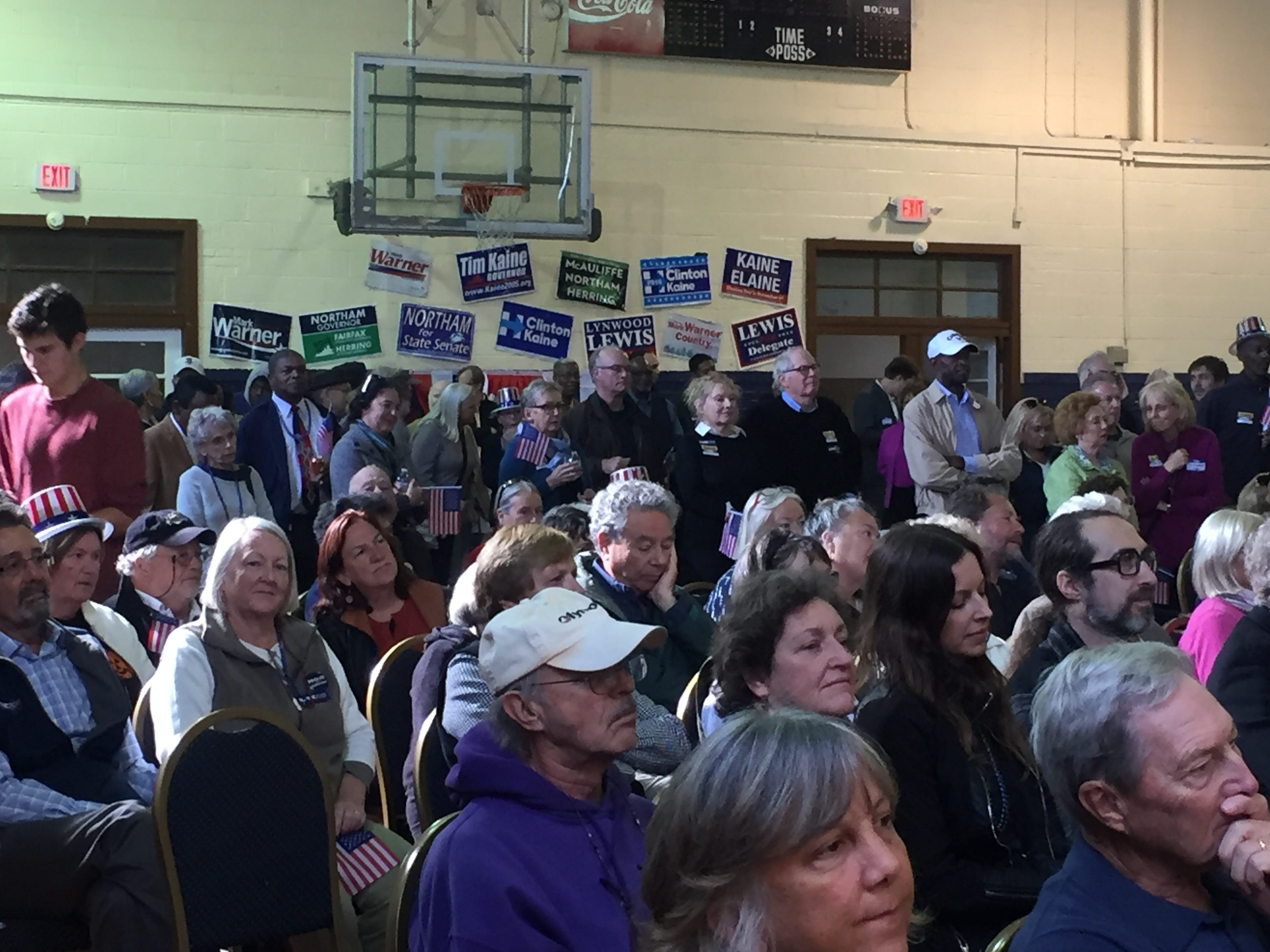 A big crowd turned out Oct. 21 at Mary N. Smith Cultural Enrichment Center in Accomac for a rally by Democratic candidates ahead of the November election.