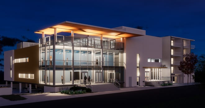 Clear Space Theater Company's site plan boasts a nearly 25,600 square foot building with 300 seats on Rehoboth Avenue.