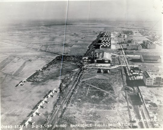 Construction was still ongoing at Barksdale Field on Feb. 2, 1933.