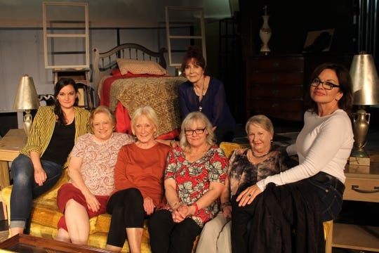 """The cast, director and playwright of Shreveport Little Theatre's """"A Southern Exposure."""""""
