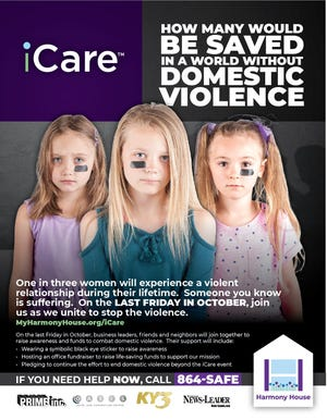 This is a promotional photo for Harmony House's iCare campaign Friday.