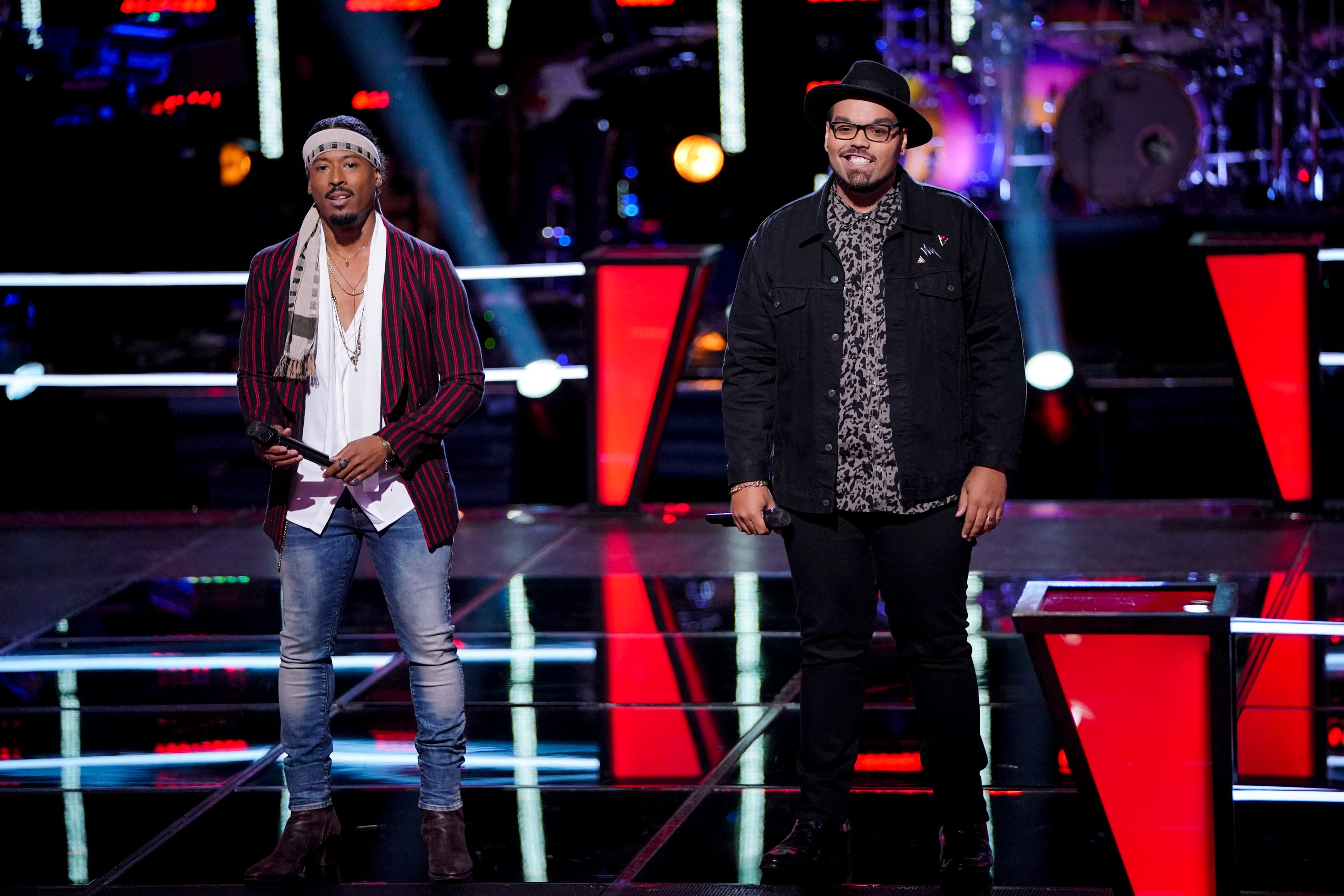 "Franc West and Fishersville's Matt Johnson on ""The Voice"" Battle Rounds on Monday, Oct. 22, 2018."