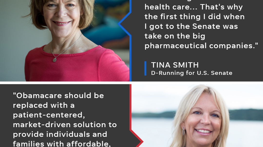 Tina Smith and Karin Housley are endorsed by their respective parties in a bid for the U.S. Senate seat previously held by Al Franken.