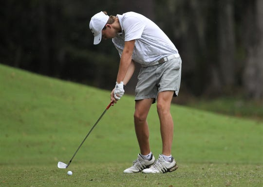 Chiles freshman Parker Bell plays during the Region 1-3A tournament at Killearn Country Club on Tuesday, Oct. 23, 2018.