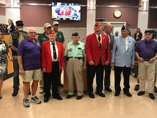 Port St. Lucie Purple Heart medal ceremony honorees