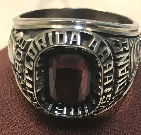 Bob Toomey, a linebacker on Vero Beach High School's 1981 Class 4A state championship team, still has the ring players received after that historic season.