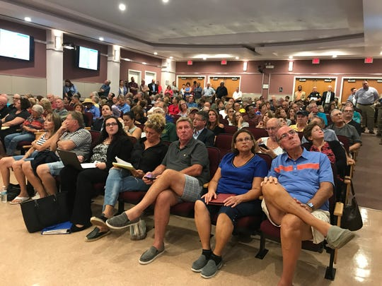 Dozens of homeowners from Vitalian at Tradition packed the Port St. Lucie City Council Chamber on Oct. 22, 2018.