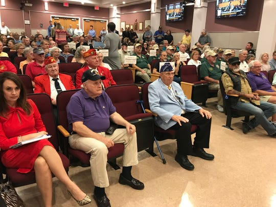 Purple Heart recipients from the Treasure Coast were honored during a ceremony on Oct. 22, 2018 in Port St. Lucie City Hall.