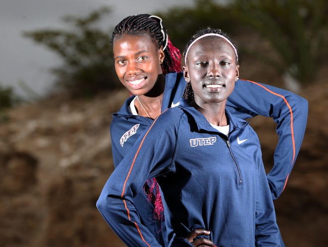 UTEP juniors Linda Cheruiyot, left, and Winny Koech qualified for the NCAA Cross Country Championships Nov. 17 in Madison, Wisc.