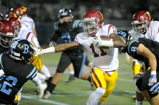 Xavier Harris is back for his senior year at Oxnard after rushing for 1,659 yards and 27 touchdowns as a junior.