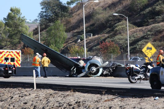 Agoura Car Care Tire Pros Agoura Hills Ca, A World War Ii Era Plane Crashed Into The Center Divider On Highway 101 Near Agoura Hills On Tuesday Photo Contributed Photo Cori Carlson, Agoura Car Care Tire Pros Agoura Hills Ca